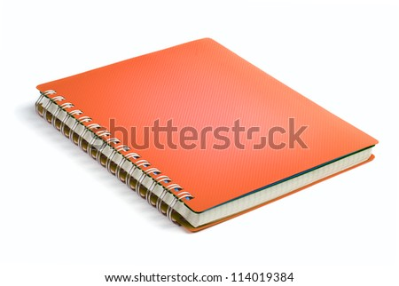 Blue sky color Cover Note Book - stock photo