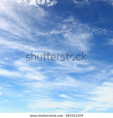 Blue sky full of small clouds - stock photo