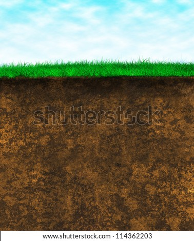 Soil layers stock images royalty free images vectors for Soil and green