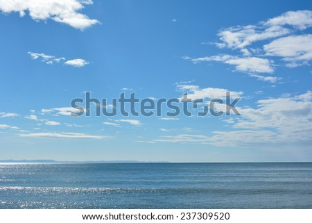 Blue sky in summer