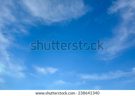 Blue sky in summer - stock photo
