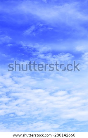Blue sky in summer seasons in Thailand. - stock photo