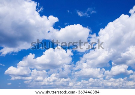 Blue sky in the clouds - stock photo