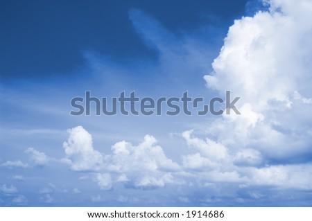 Blue Sky Location:Bangkok, Thailand - stock photo