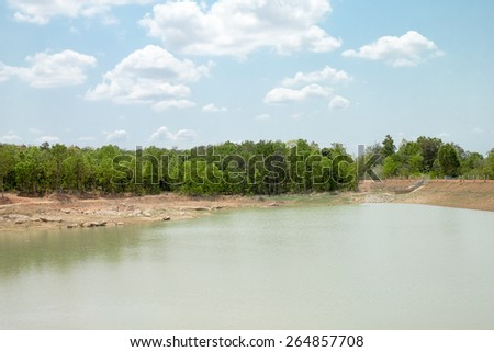 blue sky over the forest landscape in thailand - stock photo