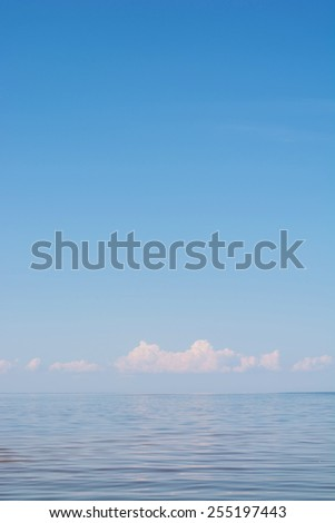 blue sky, photo with a place for text