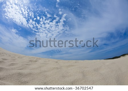 Blue sky & Sandy beach