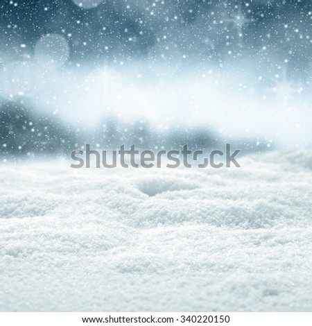 blue sky snow and space for you  - stock photo