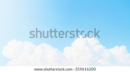 blue sky vintage tone - stock photo