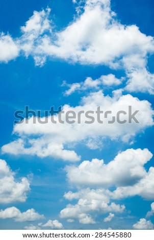 blue sky white cloud - stock photo