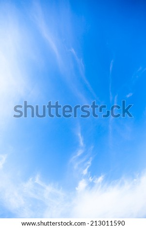 Blue sky, white clouds and sunshine in Okinawa