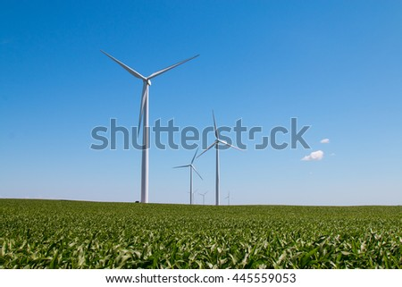 Blue Sky Windmills