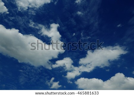 blue sky with beautiful cloud