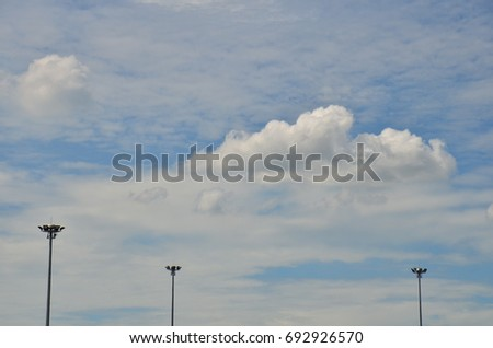 Blue sky with beautiful clouds in bright days