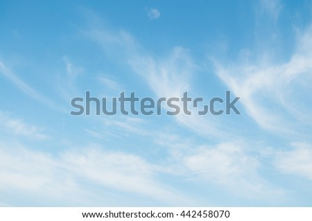 Blue sky with cloud. Beautiful natural of sky. Sky abstract or Background. - stock photo