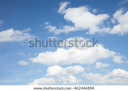 blue sky with cloud, concept of hope, new start, Fresh