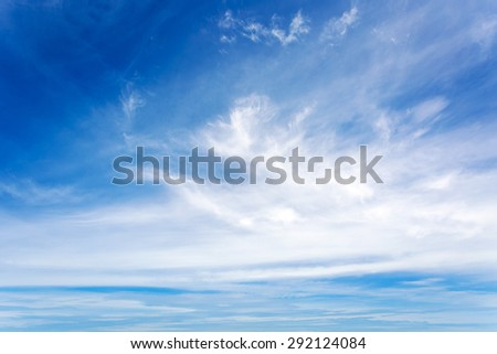 blue sky with cloud in day time background - stock photo