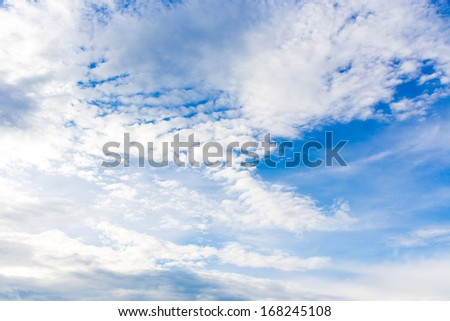 Blue Sky with Cloud on Cloudy Day.