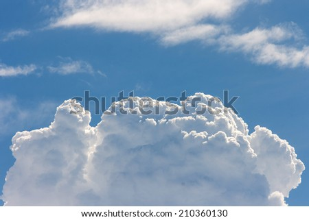 blue sky with cloud, sky background - stock photo