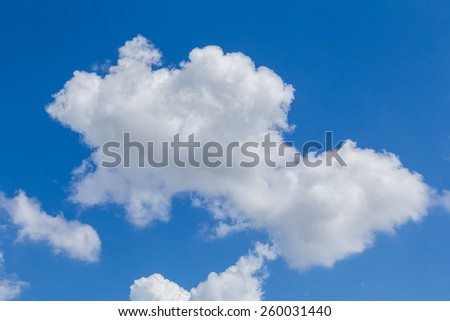 blue sky with cloud sunny day closeup