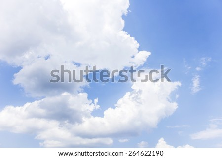 Blue sky with clouds background. - stock photo
