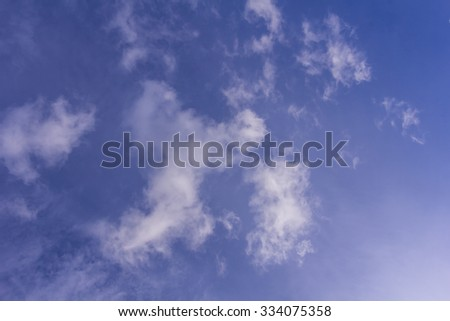 Blue sky with clouds background and texture - stock photo