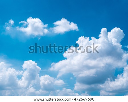 blue sky with clouds closeup, high definition skyscraper with clouds,