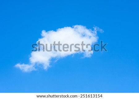 blue sky with clouds closeup,like a dolphin
