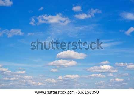 Blue sky with clouds for background.
