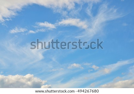 Blue sky with clouds for beautiful texture or background
