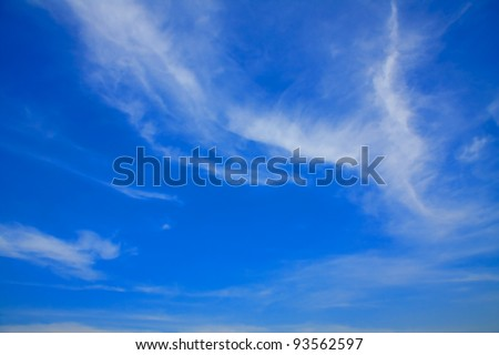Blue sky with clouds in beautiful day. - stock photo