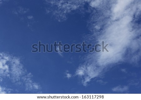 blue sky with clouds in thailand