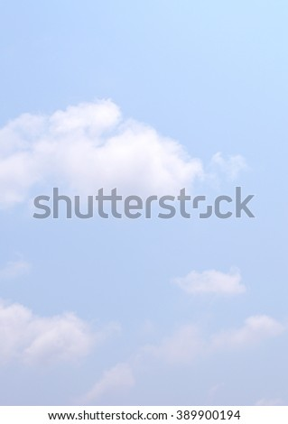blue sky with clouds, sky background with copy space - stock photo