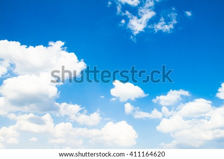 Blue sky with clouds. The sky with clouds for background. Nature background - stock photo