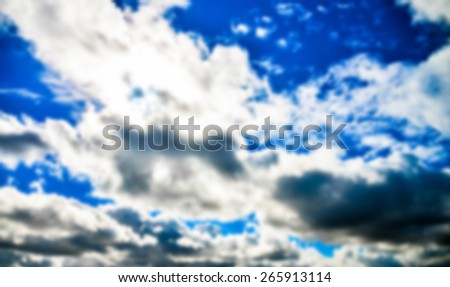 Blue sky with cloudy in Blur style