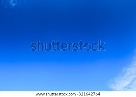 Blue sky with copy space - stock photo