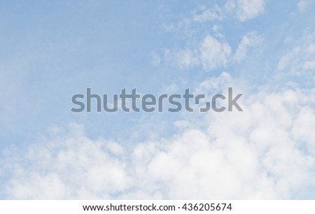 blue sky with fading clouds and copy space, sky wallpaper