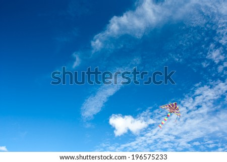 Blue sky with kite