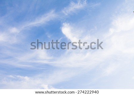 Blue sky with little clouds background  - stock photo
