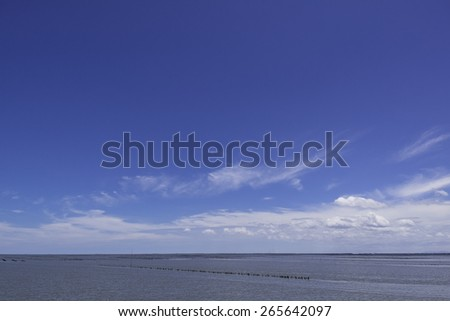 Blue sky with nice cloud texture