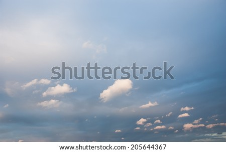 Blue sky with small clouds