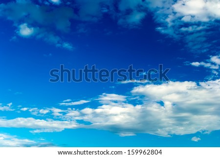 Blue sky with stratus clouds - stock photo