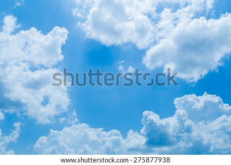 blue sky with white cloud on sunshine day.