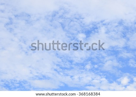 Blue sky with white clouds background texture