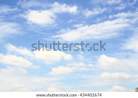 blue sky with white clouds backgrounds at summer season in thailand