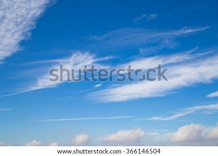 Blue sky with wonderful cloud scape