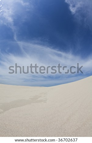 Blue sky & Yellow sand