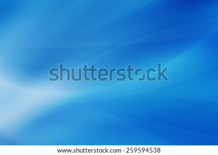 blue smooth with curve abstract background - stock photo