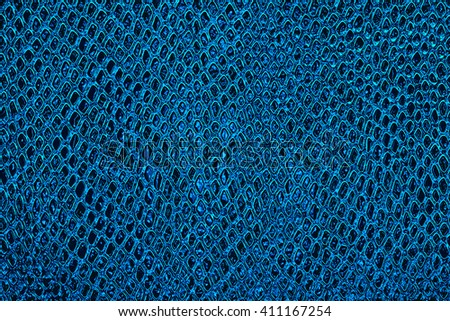 Blue snake skin background - stock photo