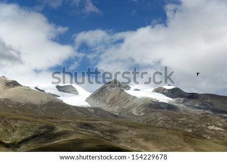 Blue Snow - stock photo